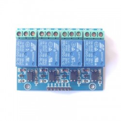 4 road 12 v 10A optical coupling isolation relay module