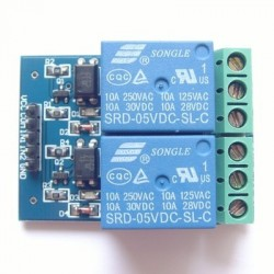 5 v 2 road 10 a optical coupling isolation relay module