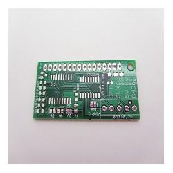 I2C/spi to lcd1602 bare pcb